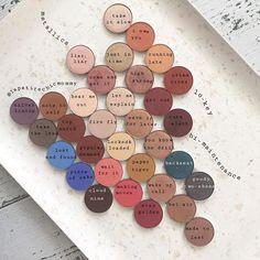 Colourpop Single Pressed Powder Eyeshadows. Mattes are especially good. Dupe for Anastasia Beverly Hills (ABH) Eyeshadows texture