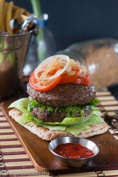 Jamaican inspired jerk burgers