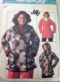 Simplicity 7651 1970s Coat sewing pattern.  by retroactivefuture, $5.00