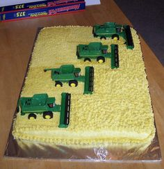 This was designed specifically for my nephew who is taking a job to do exactly what is pictured on the cake.