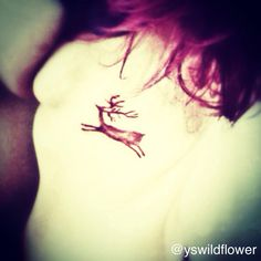 Lascaux cave stag painting tattoo (on me!) also, pink hair! Pretty Tattoos, Cool Tattoos, Hirsch Silhouette, Painting Tattoo, Cave Painting, Ancient Tattoo, Hair Tattoos, Tatoos, Queen Annes Lace