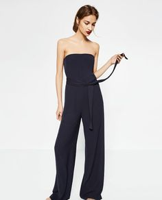 STRAPLESS JUMPSUIT-JUMPSUITS-WOMAN-COLLECTION AW16 | ZARA United States