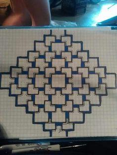 Graph paper doodles