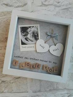 Anniversary Gift Partner, Gift Saying, I Love You, Personalized Scrabble Art Frame, Gift for Husband Diy Christmas Gifts For Boyfriend, Creative Gifts For Boyfriend, Thoughtful Gifts For Him, Romantic Gifts For Him, Christmas Diy, Christmas Presents, Handmade Gifts For Boyfriend, Romantic Gifts For Boyfriend, Bday Gifts For Him