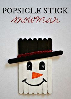 Popsicle Stick Snowman Craft -