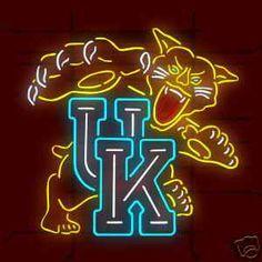 Okay, here you go all you UK fans!!!  UK Kentucky Wildcats Logo Neon Sign NCAA - myneonhaven.com