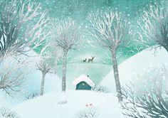 Christmas is comming by Marija Smirnovaite, via Behance