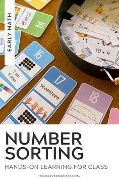 Perfect for children learning about the different representations of number, this number sorting resource is the perfect addition to your math centers or morning work that can be used over and over and over again to help support your classroom teaching of number and all the different ways numbers can be represented. With multiple representations included for all the numbers from 11-20, pick and choose the cards you want your children to sort #kindergartenmathcenters #numbers #kindergartenmath Sorting Activities, Hands On Activities, Play Number, Build Math, Math Tools, Teen Numbers, Teaching Numbers, Tens And Ones, Second Grade Math