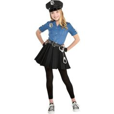 Kids Girls Officer Cutie Cop Costume Size S Halloween Multi-Colored Kids Costumes Girls, Girl Costumes, Costumes For Women, Costume Ideas, Halloween Costumes For Girls, Halloween Kids, Cop Costume For Kids, Group Halloween, Kid Girl Halloween Costumes