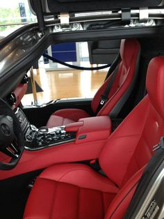 Mercedes-Benz SLS AMG GT Coupe red hot interior