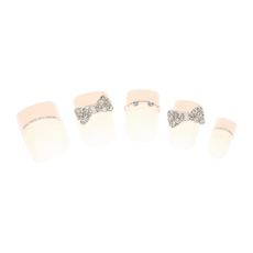 Kids  3D Bow French Faux Nails