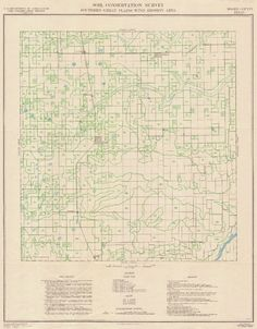 Southern Great Plains Wind Erosion Maps, 1936-37