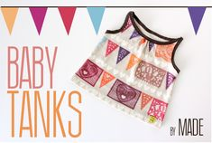 TUTORIAL and FREE PATTERN: Baby Tanks   MADE - uses a fat quarter of knit//oh my @Cara Jill Smith