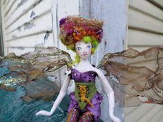OOAK Art Doll  TansyMae Little Fae  Fairy Cloth by paulasdollhouse, $76.00