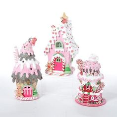 Set of 3 LED Lighted Ice Cream, Cake and Gingerbread House Christmas Decorations: Christmas Decor : Walmart.com