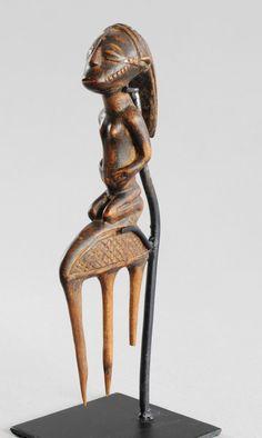 Joli peigne TABWA comb RDC Congo Art Africain arts premiers tribal Africa Afrika | eBay