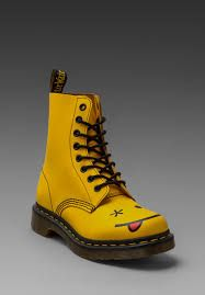 Image result for yellow smiley face doc martens