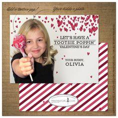 Tootsie Poppin's Valentine Cards