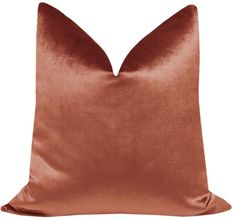 Faux Silk Velvet // Rust Red Pillows, Velvet Pillows, Accent Pillows, Throw Pillows, Advanced Aesthetics, Funny Pillows, Perfect Pillow, Cushion Fabric, Pillow Covers