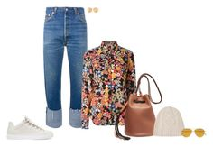 """""""Untitled #1301"""" by biancateicu ❤ liked on Polyvore featuring RE/DONE, N°21, Balenciaga, Tod's, Frame Denim, Tomas Maier and Kimberly McDonald"""