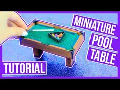 Diy: Miniature Pool Table Tutorial ~ Make your own pool table for your dollhouse ♥ - YouTube