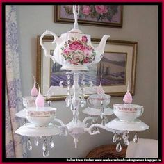 Dollar Store Crafter: Turn Grandma's Tea Set Into A Mary Poppins's Tea P...