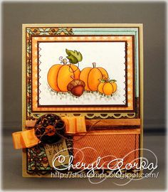 Happy Fall by elizgmom - Cards and Paper Crafts at Splitcoaststampers... LOVE the colors!
