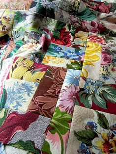 Broad cloth quilt.  Great way to use up fabric scraps.