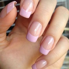 French manicure is the most popular and well liked nail art design of all seasons. He is timeless and chic. You can paint your nails in almost any theme and design and they fit just about any occasion. French manicure is versatile and convenient. Pink Tip Nails, Colour Tip Nails, My Nails, Nail Colors, French Manicure Nail Designs, Nails Design, French Manicures, Gel French Tip Nails, Pink French Manicure