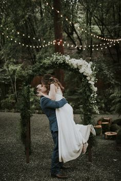 wedding arch - http://ruffledblog.com/romantic-redwoods-wedding