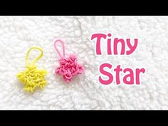 Here is a tiny star tutorial that you can make with or without a rainbow loom. You only need two pegs of the loom if you choose to use your rainbow loom. Rainbow Loom Christmas, Rainbow Loom Charms, Loom Bands Tutorial, 3doodler, Loom Craft, Tiny Star, 3d Printing, Beading, Crafts For Kids