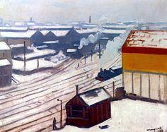 Gare Montparnasse sous la neige, 1913 - Albert Marquet, 1875-1947
