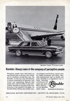 https://flic.kr/p/UbRQze | 1964 Rambler Classic 770 Sedan AMI AMC Aussie Original Magazine Advertisement
