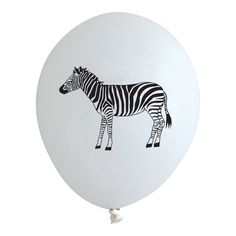 ZEBRA PARTY BALLOONS Sweet jungle baby shower or first birthday party ideas and inspiration from Bonjour Fete - A party supply boutique in Los Angeles, CA - Ships worldwide.