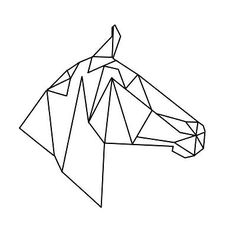 Pics Of My Favorite Geometric Tattoos geometric geometrique horse cheval head tete Geometric Drawing, Geometric Shapes, Geometric Animal, Geometric Tattoo Horse, Geometric Tattoos, Animal Drawings, Art Drawings, Doodle Drawing, Origami Animals
