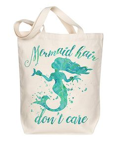 Look what I found on #zulily! Mermaid Hair, Don't Care Tote #zulilyfinds