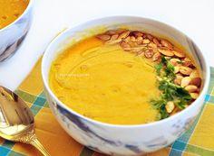 Sopa de Abóbora, Cenoura, Quinoa e Gengibre. Para esquentar e nutrir o corpo no inverno! | Receita | Pati Bianco |Fru-fruta