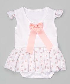 Look at this #zulilyfind! Pink Lucy Skirted Bodysuit - Infant #zulilyfinds