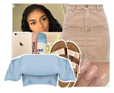 A fashion look from May 2017 featuring off-shoulder tops, short mini skirts and suede flats. Browse and shop related looks. Crop Top Outfits, Dope Outfits, Cute Summer Outfits, Summer Wear, Outfits For Teens, Stylish Outfits, Dope Fashion, Black Girl Fashion, Teen Fashion