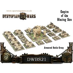 Empire of the Blazing Sun Armoured Battle Group - Dystopian Wars - http://www.spartangames.co.uk