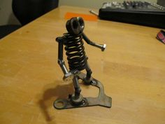 Metal Sculpture Welded Party Gremlin by goodrichpatrick on Etsy, $15.00