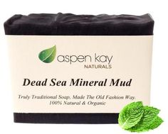 Finally a Dead Sea mud soap that works.  This organic soap is chalked full of Dead Sea mud and activated charcoal and scented with therapeutic grade essential oils.  By Aspen Kay Naturals