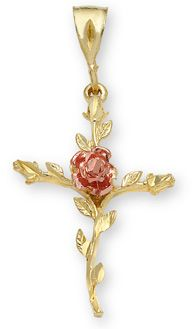 applesofgold.com - Rose of Sharon Cross Pendant in 14K Gold ~ Love this! Definitely on my wish list!