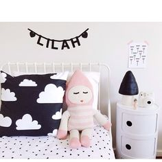 Black and white kids room, Kartell Componibili #toadstoolonComponibili