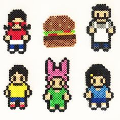 Bob's Burgers perler beads by adobixartsandcreations