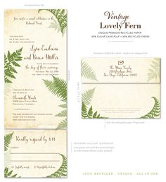 Shop fern wedding invitations, delicate and shaded, this beautiful vintage green wedding invitation will warm the hearts of your guests. Express your love with the lovely fern, on a send and sealed format. Green Wedding Invitations, Beautiful Wedding Invitations, Fern Wedding, Rustic Wedding, Wedding Ideas, Sheath Wedding Gown, Wildflower Seeds, Invitation Paper, Princess Wedding