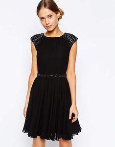 TED-BAKER-Sascha-embellished-skater-dress-size-1-UK8