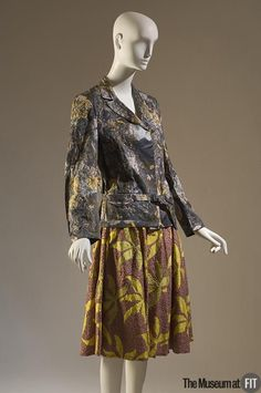 Suit | Dries Van Noten (Belgian, b. 1958) | Printed cotton sateen, metallic thread, and chenille cord | Belgium, Spring 2004 | The Museum at FIT