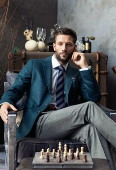 Well done. Dark royal blue on gray is classic and the tie brings it together. Sharp look.