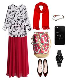 """""""stylish n syari"""" by nianaap ❤ liked on Polyvore featuring Chicwish, Melissa McCarthy Seven7, Kate Spade, Hermès, Casetify, Citizen and plus size clothing"""